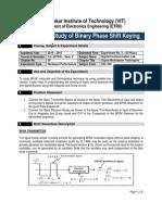 3. Study of Binary Phase Shift Keying