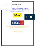 Comparative Analysis and Market Strategy of Idea Communication and Aircel Communication