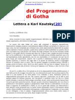 MIA - Engels_ Critica Del Programma Di Gotha - Lettera a Kautsky