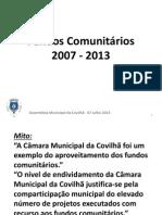 Fundos Comunitários AssembleiaMunicipal 7Julho2014