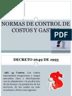 Normas de Control de Costos y Gastos