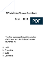 Multiple Choice 1750-1914