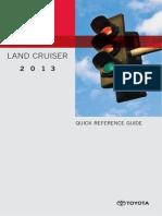 TOYOTA Owners Manual LandCruiser 2013