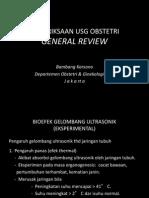 Pemeriksaan USG Obstetri-Ringkasan Umum - Draft