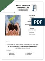 DISMINUCION DE ORGANOCLORADOS POR LANDFARMING
