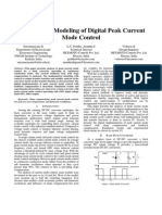 Analysis and Modeling of Digital Peak Current Mode Control