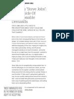 Reading _Steve Jobs__ the Upside of Unreasonable Demands _ Co