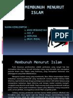 Hukum Membunuh Menurut Islam