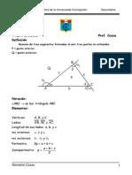 Sesion de Aprendizaje de Triangulos y Sus Propiedades Ccesa007