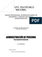 Administracion de Personal Paginas 1 a La 70