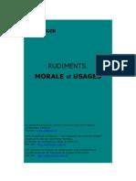 Wieger - Rudiments - Morale Et Usages