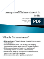 Analysis of Disinvestment in India