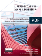 Critical Perspectives in Educational Leadership