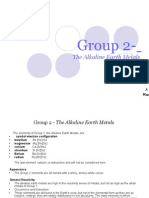 Group 2The Alkaline Earth Metals