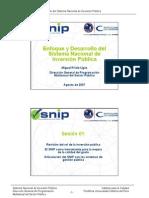 Enfoque y Desarrollo Del SNIP- Miguel Prialé