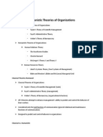 Humanistic Theories of nsgOrganizations