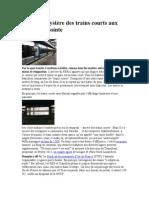 RER Le Mystère Des Trains Courts Aux Heures de Pointe 14 Mai 2014