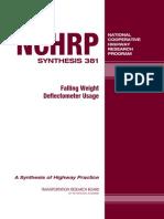 NCHRP Uso de FWD en Evaluacion de Carreteras