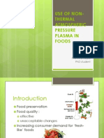 Use of Non-Thermal Atmospheric Pressure Plasma in Foods