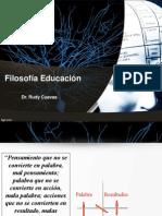 FILOSOFIA EDUCACIÓN
