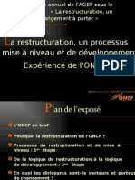 ONCF- Restructuration