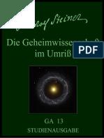 GA 013 - DIE GEHEIMWISSENSCHAFT IM UMRISS - RUDOLF STEINER - deutsch