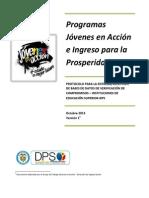 Protocolo EntregaRecepcion de BD UNIVERSIDADES-DPS 18-10-2013
