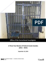 A Three Year Review of Federal Inmate Suicides in Canada