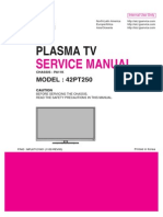 ServiceManuals LG TV PLASMA 42PT250 42PT250 Service Manual