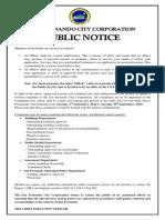 Public Notice - Complaints Box - City of San Fernando
