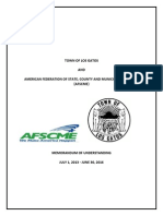AFSCME Local 101/Town of Los Gatos MOU 2013-2016