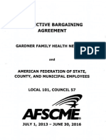 AFSCME Local 101/Gardner Contract 2013-2016