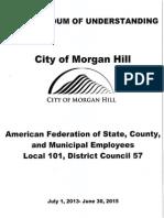 AFSCME/; Morgan Hill MOU 2013-2015