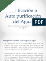 Tema N° 4 Purificación o Auto purificación del Agua