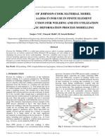 Verification of Johnson-cook Material Model by Sanjeev n k