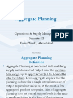 Aggregate Planning Based on Chase