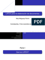 LATEX para la elaboracíon de documentos