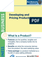 Developing and Pricing Products