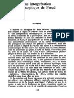 Ricoeur - Une interprétation philosophique de Freud (Le conflit des interprétations, Seuil, Paris, 1969)