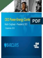 Baker Hughes at Barclays Conference (05Sep'12)