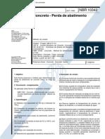 NBR 10342 - Concreto - Perda de Abatimento