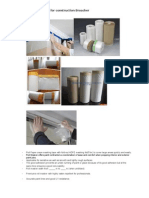 adhesive tapes for construction industries