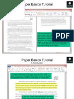 The Crossing College Paper Basics Tutorial