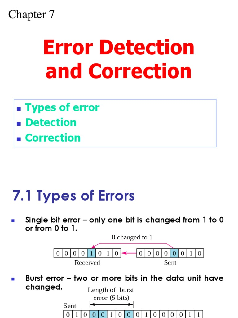 Error Detection Correction   Error Detection And Correction