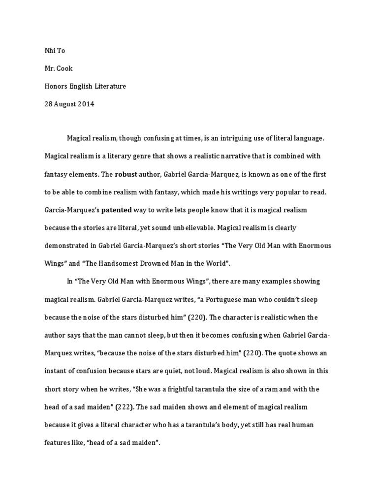 To Nhi Magicalrealism  PDF  Gabriel García Márquez  Realism (Arts)