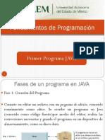 Fundamentos de Programación - PrimerProgramaJAVA.pdf