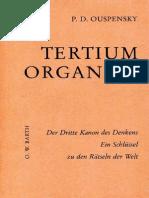 P.D. Ouspensky - Tertium Organum - Der Dritte Kanon Des Denkens