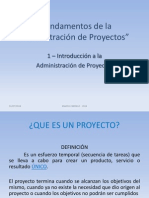 1 - Introduccion a La Administracion de Proyectos