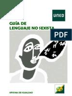 Uned — Guía de lenguaje no sexista