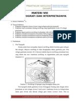 9. Materi VIII - Peta Topografi Dan Interpretasinya (Abdi Alfarisi) Benar